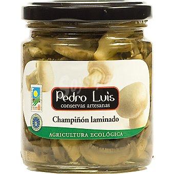 Pedro Luis Champiñon laminado ecologico Frasco 124 g neto escurrido