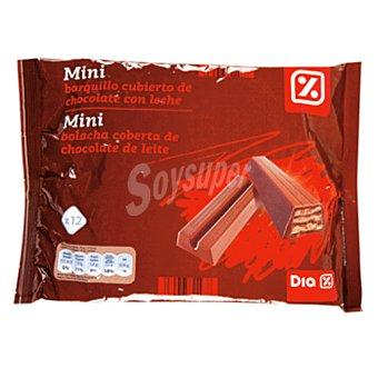 DIA Mini barquillo cubierto chocolate con leche Bolsa 250 gr