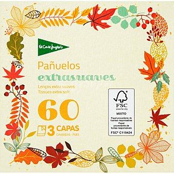 El Corte Inglés Pañuelos faciales extrasuaves 3 capas caja 60 unidades caja 60 unidades