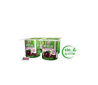 Kalise Yogur Esencial desnatado con fibra y ciruelas Pack de 4x125 g