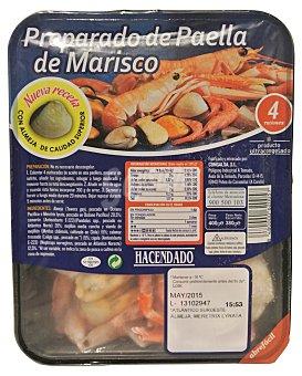 Hacendado Arreglo paella marisco congelado Bandeja de 400 g