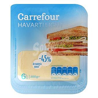 Carrefour Queso havarti light en lonchas 200 g