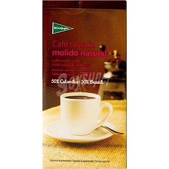El Corte Inglés Cafe natural molido Colombia-Brasil Paquete 250 g