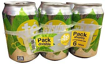 Hacendado Refresco te limon Lata pack 6 x 330 cc -1980 cc