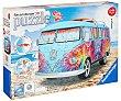 Puzzle 3D Volkswagen modelo T1 indian summer, 165 piezas, RAVENSBURGER.  Ravensburger