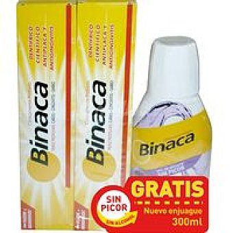 Binaca Dentífrico Pack 2 unid. + Enjuague
