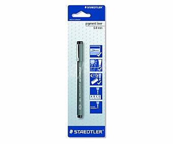 Staedtler Rotulador calibrado, con trazo de 0.8 milímetros y tinta de color negra resistente a UV 1 unidad