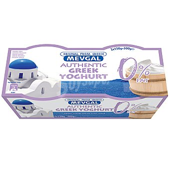 MEVGAL Yogur griego 0% materia grasa Pack 2 unidades 150 g