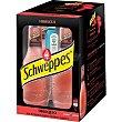 Schweppes premium mixers tónica & Hibiscus + Miniatura de ginebra Pack 4 botellas 20 cl Bombay Sapphire
