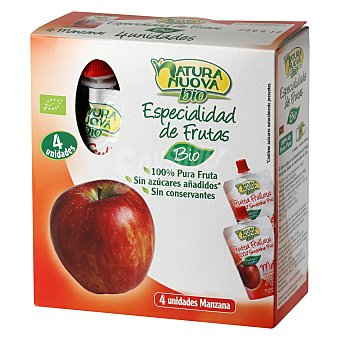 Natura nuova Puré de manzana ecológico 4 ud 4 ud