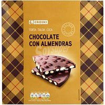 Eroski Torta de chocolate negro Caja 200 g