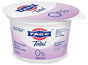 Fage Yogur griego 0% materia grasa, natural total 170 g