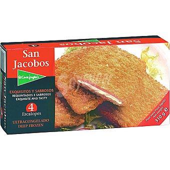 EL CORTE INGLES San Jacobos Jamón y queso 4 unidades estuche 310 g 4 unidades