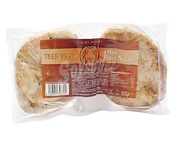 Tiger Khan Panecillos indios Naan al horno 235 gramos (4 unidades)
