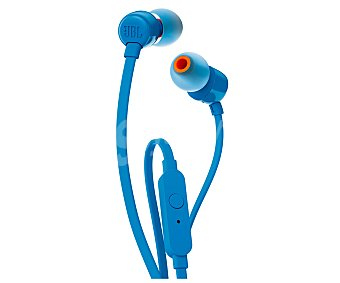JBL Auricular intrauditivo T110 con cable, micrófono, color azul con cable, micrófono, color azul