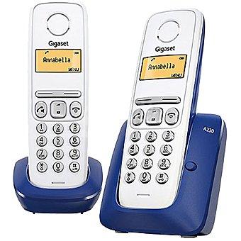 Gigaset Teléfono duo inalámbrico Dect en color azul A230