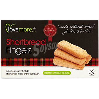 BIOGRAN LOVE MORE fingers sin gluten y sin mantequilla  envase 125 g