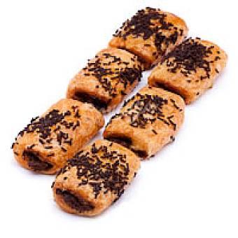 Mini napolitana de chocolate Bandeja 12 unid