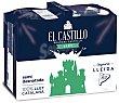 Leche semidesnatada envase 1 L 6 unidades El Castillo