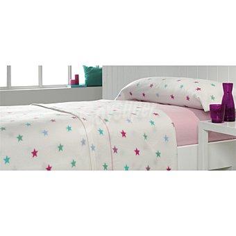 Casactual juego de cama pirineo con estrellas multicolores para cama 135 cm