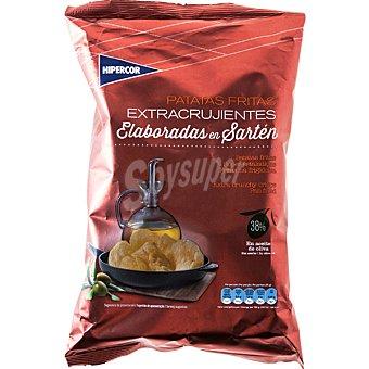 Hipercor Patatas fritas onduladas caseras con 37% en aceite de oliva Bolsa 170 g