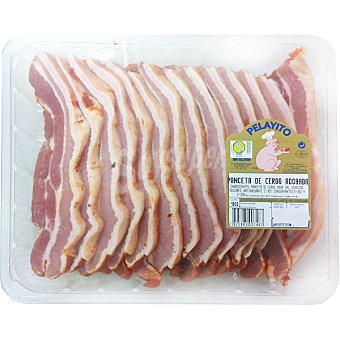 PELAYITO panceta adobada de cerdo en filetes peso aproximado bandeja 1 kg