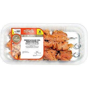 Casa de penalva Pinchos sazonados de pechuga de pollo sin gluten y sin lactosa peso aproximado Bandeja 400 g