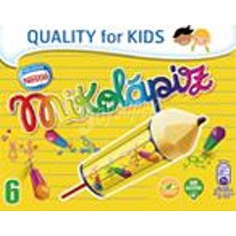 NESTLE MIKOLAPIZ Push Up helado de vainilla con mina de chocolate sin gluten estuche 528 ml 6 unidades