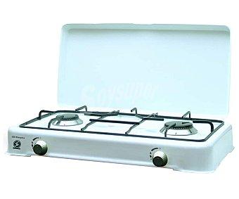 Orbegozo Cocina sobremesa a gas propano FO2350, 2 zonas de cocción, 1400W/1900W 2 zonas de cocción, 1400W/1900W