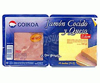 GOIKOA Bipack Jamón y Queso Edam 2x100g