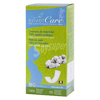 Silvercare Compresas de maternidad de algodón ecológico 10 ud