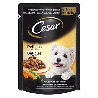 Cesar Comida para perro adulto a base de buey tierno con zanahorias 100 gr