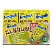 Batido de cacao all natural 50% menos de azúcares añadidos sin gluten Pack de 3 briks de 180 ml Nesquik Nestlé