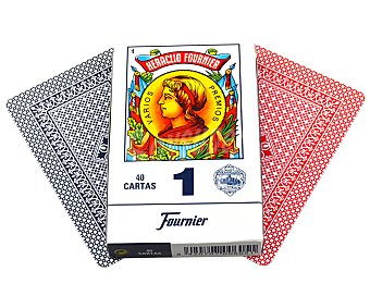 FOURNIER Baraja española nº 1, 40 cartas en estuche de cartón, incluye un manual de juegos 1 unidad