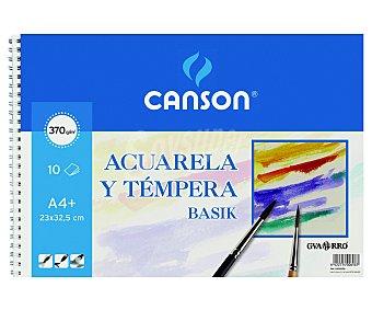 Canson Bloc para pintar con acuarelas o témperas con 10 hojas de 370 gramos y de 23x32.5 centímetros 1 unidad