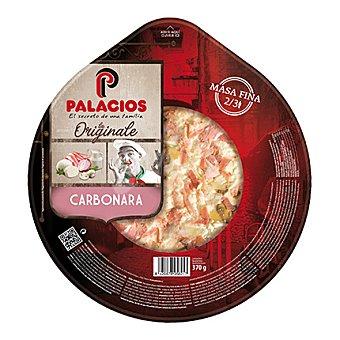 Palacios Pizza Carbonara c/cebolla, bacon y champiñón 370 g