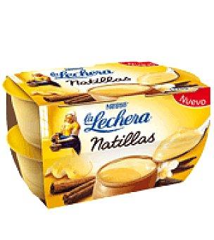 La Lechera Nestlé Natillas de vainilla Nestlé pack de 4x70 g