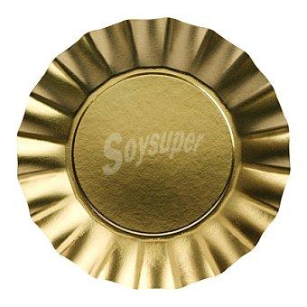 Gold 8 Platos desechables Ø 24cm 8 ud
