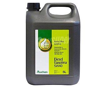 Productos Económicos Alcampo Aceite sintético para vehículos con motor diésel 5 litros