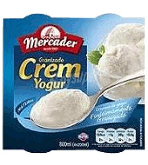 MERCADER Helado de Yogur Natural Pack de 4X150 g