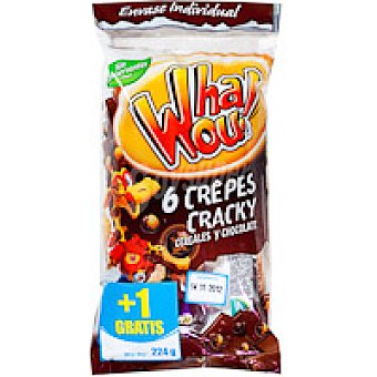 Whaou Crepes con cereales + choco Paquete 6+1 unid