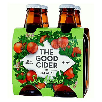 THE GOOD CIDER Sidra The Good Cider sin alcohol Pack de 4 botellas de 25 cl