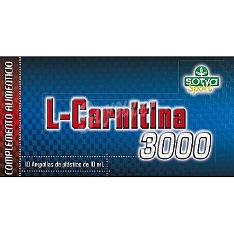 SOTYA SPORT Complemento alimenticio l-carnitina 3000 mg envase 10 ampollas