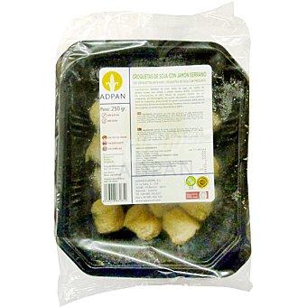 ADPAN Croquetas congeladas de soja con jamón serrano sin gluten  envase 250 g