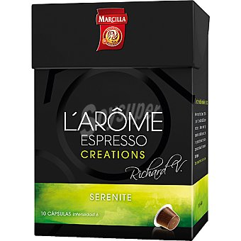 Marcilla Café Serenite L'Arôme Espresso Cápsulas - Intensidad 6 - L'Arôme Espresso Creations