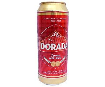 Dorada Cerveza pilsen clásica lata 50 cl