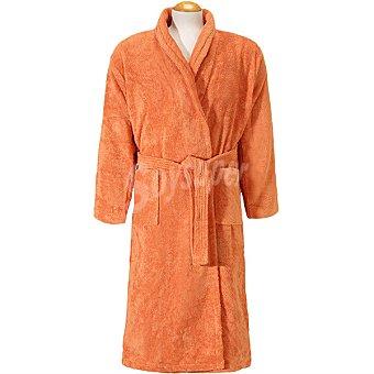 CASACTUAL  Albornoz adulto talla L de rizo americano color naranja 1 unidad