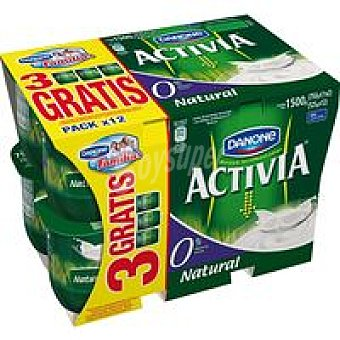 Danone Activia 0% natural Pack 12x125 g
