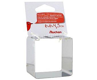 Auchan Molde cuadrado para emplatar, 6 Centímetros 1 Unidad