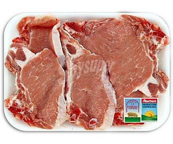 Auchan Producción Controlada Chuletas de centro de cerdo de Teruel 500 Gramos